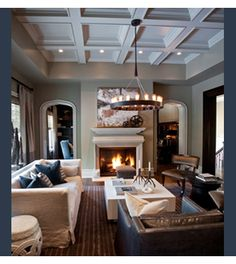 Coffered Ceilings, via Nam Dang Mitchell