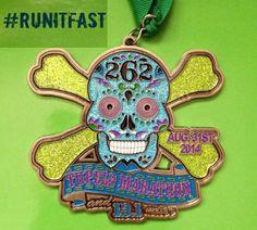 Tupelo Marathon & Half Marathon Medal - 2014 - Run It Fast #runitfast #medal…