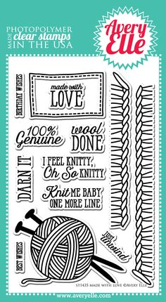 Made With Love Clear Stamps