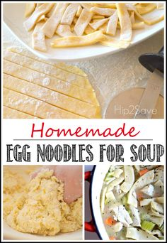 Homemade Egg Noodles for Soup (+ Easy Chicken or Turkey Noodle Soup Recipe) by Hip2Save