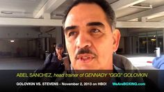 "ABEL SANCHEZ Airport Interview: ""He [Curtis Stevens] talked himself into a fight!"""