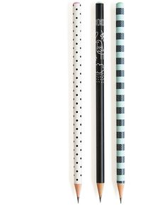 polka dot, stripe and doodle pencil set | available at Rock Paper Scissors #AnnArbor www.rockpaperscissorsshop.com/about