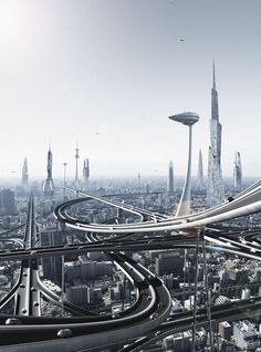Futuristic city.     #future #design #architecture ☮k☮