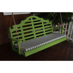 A & L Furniture Marlboro Yellow Pine 5ft Porch Swing