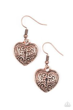 Paparazzi Accessories: Throw Away The Key - Copper... $5