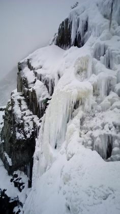 Ice climbing in the