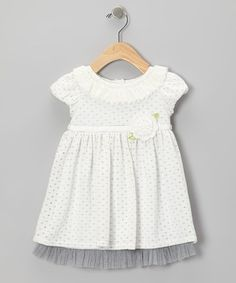 Take a look at this Ivory Flower Knit Dress - Infant by Sweet Heart Rose on #zulily today!