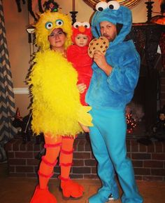 sesame street family costume halloween - Baby And Family Halloween Costumes