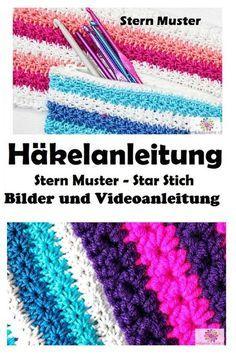 Stern Muster ,Star Stich, Häkeln, Anleitung, Muster, Stich,Kostenlos,Crochet,Patterns,Free,