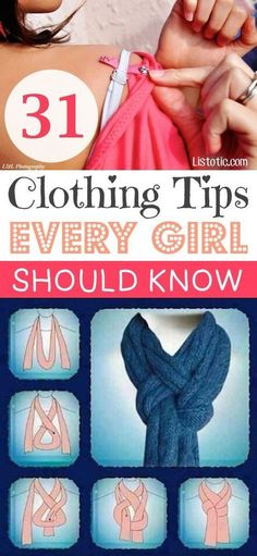 DIY Life Hacks & Crafts : 31 Clothing Tips & Tricks Every Girl Should Know (With Pictures)