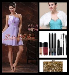 """2013 One Shoulder Lilac Short Dama Dresses for Quinceanera"" by quinceaneradress on Polyvore"