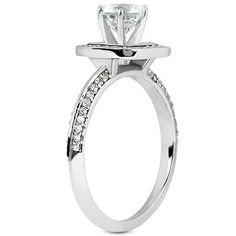 Halo Petite Princess Cut Engagement Ring | Moijey Fine Jewelry and Diamonds
