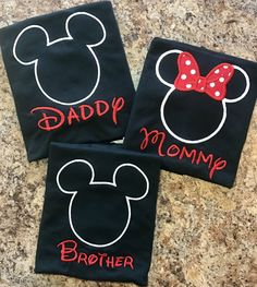 FAMILY PACK 3 Shirts Mickey Mouse and Minnie Mouse Shirt