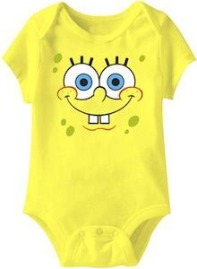 Spongebob Squarepants Baby Bodysuit. I DON'T CARE MY CHILD WILL HAVE THIS.