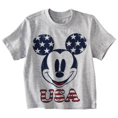 Disney® Mickey Mouse Infant/Toddler Boys Short-Sleeve Tee. $8 Got this one for the little man to wear on July 4th.