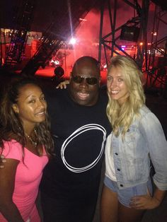 Us with Carl Cox in Dubai! He is the nicest guy you could meet. Such a legend!
