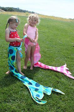 Stitch To My Lou: Mermaid Tail Towel Tutorial