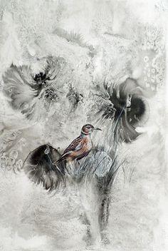 Spike heeled Lark - bird art by Liffey Joy online Joy Online, Original Artwork, Original Paintings, Spike Heels, Mixed Media Painting, Bird Art, Online Art Gallery, Watercolor Paper, African