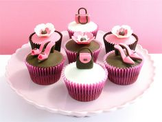 Things are cuter when they are small and Cup Cakes with mini shoes and handbags are no exception  http://www.gillyflowerjewellery.co.uk/?p=983