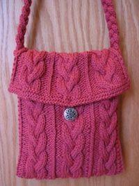 flapper-purse-free knitting pattern @ Juxtapost.com