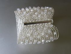 FREE SHIPPING!!!  Thank you for visiting my shop! This stunning bridal crochet cuff bracelet handmade out of high quality non tarnish silver plated wire Source Etsy By Kvin Tal , owner Oksana Thomas