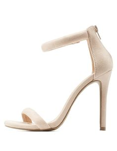 Nude Ankle Strap Dress Sandals by Charlotte Russe