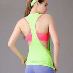 Women Gym Workout Clothing Sports T Shirt Yoga Fitness Running Sportswear Tee…