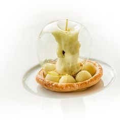 Snow White wished she bit into this apple instead. Glass Apple with blown sugar, apple sorbet as core, puff pastry, apple balls marinated in lemon verbena, salted caramel, and chocolate nips by @restaurantbordeau #TheArtOfPlating  P.s. Help us win Best in Art by voting for us (link in profile)