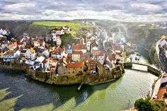 Staithes, a seaside village in the Scarborough, of North Yorkshire