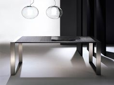 Crystal and stainless steel dining table RING | Table - F.lli Orsenigo