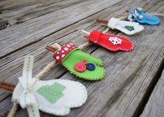 Felt Mitten Christmas Craft {MamaBuzz - mamabzz.com}