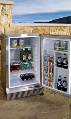 This Lynx Outdoor refrigerator is just the right size for a 3-season house.