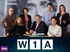 W1A (2014) stars Hugh Bonneville as the new Head of Values at the BBC. A satirical comedy with narration by David Tennant.