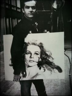 jack nicholson { holding a portrait of ann margret }