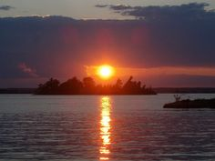 St Lawrence River at Sunset