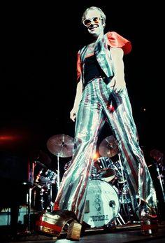 Elton John 1970s glam rock  - pinned by RokStarroad.com ~ unleash your inner RokStar - fashion, pop and mental health