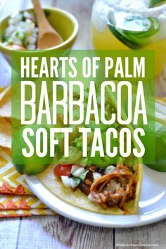 Shredded Hearts of Palm Soft Tacos - Fork & Beans