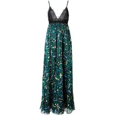 Valentino printed skirt evening dress (54,635 MXN) ❤ liked on Polyvore featuring dresses, gowns, long dresses, vestido, valentino, black, spaghetti strap gown, lace gown, plunge-neck dresses and valentino gowns