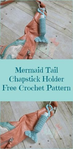 Mermaid Tail ChapStick Holder, Free Crochet Pattern