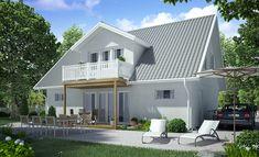 Fladen 144 - Västkustvillan Outdoor Decor, Home Decor, Beauty, Wood Facade, Wall Cladding, Log Home, Home Architect, Entrance, Room Interior