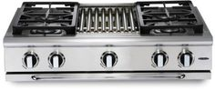 Capital 36 Inch Pro-Style Gas Rangetop with 4 Power-Flo Sealed Burners w/ Simmer, BTU Power-Wok, Full Extension Drip Tray on EZ-Glides and Auto-Ignition/Re-Ignition (Not Exact Image): Liquid Propane Gas Range Top, 36 Range, Stainless Steel Channel, Stainless Steel Griddle, Cooking Appliances, Kitchen Appliances, Drip Tray, Home Repairs, Chrome Plating