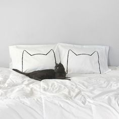 Cat Nap Pillow Case Set As seen on Design*Sponge and Remodelista! The Cat Nap Pillowcases are made from an original drawing, inspired by all the...