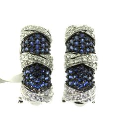 Blue Sapphire and Diamond Pave by FancyGemsandFindings Blues Clues, Fine Jewelry, Unique Jewelry, August Wedding, Blue Sapphire, Omega, Navy Blue, White Gold, Trending Outfits