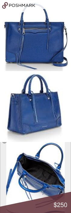 SALE 🎉 NWT Rebecca minkoff Reagan satchel Comes with dustbag. New with tags. Gorgeous cobalt color. Measures appx. 13 inch length, 9 inch height. Genuine leather . Silver hardware. Rebecca Minkoff Bags Satchels