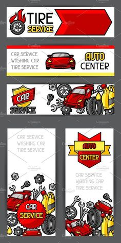 Car repair banners.. Flyer Templates. $6.00