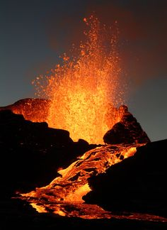 Erupting volcano Hawaii