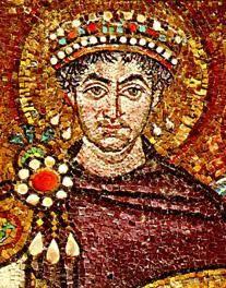Ravenna - Mosaici Basilica di San Vitale, l'imperatore Giustiniano