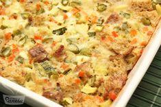 Torta de pão integral com legumes