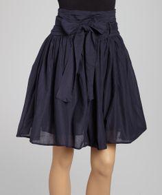 Navy Bow Skirt
