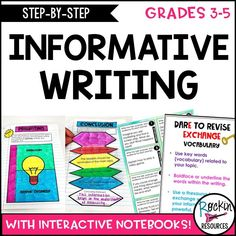 Step By Step Informative Writing with Model Lessons Writing Goals, Writing Strategies, Book Writing Tips, Opinion Writing, Writing Lessons, Writing Process, Essay Writing Skills, Writing Workshop, Interactive Writing Notebook